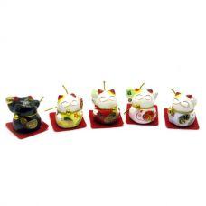 Статуэтка Кошки Манэки-Нэко (набор 5 шт) (23,5х6х4 см)