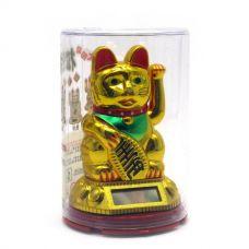 Статуэтка Кошка Манэки-Нэко на солнечной батарее (10х6,5х6,5 см)