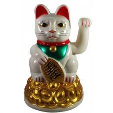 Статуэтка Кошка Манэки-Нэко машущая лапой пластик (16х10,5х10,5см)