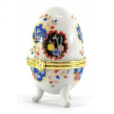 Шкатулка яйцо (7,5х5х5см) Белая Homade
