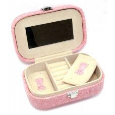 Шкатулка для бижутерии Розовая (15х10,5х4,5 см) Homade