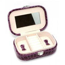 Шкатулка для бижутерии фиолетовая (15х10,5х4,5 см) Homade