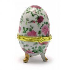 Шкатулка яйцо Роза Свит (7,5х5х5см) Белая Homade