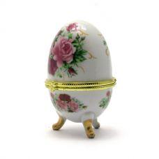 Шкатулка яйцо Розовые Розы (10х6х6 см) Homade