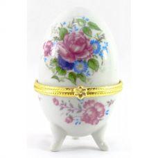 """Шкатулка яйцо """"Пионы"""" (10х6х6 см) Homade"""