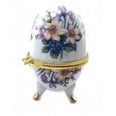 """Шкатулка яйцо """"Цветы Связка"""" (10х6х6 см) Орнамент Homade"""
