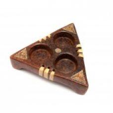 Подсвечник терракотовый на 3 свечи треугольный (15,5х13,5х4 см) Homes