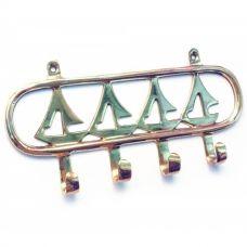 "Вешалка-ключница для одежды бронза ""Парусники"" (18х8х2 см) Homade"