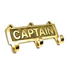 "Вешалка-ключница для одежды бронза ""Captain"" (12х6х2,5 см) Homade"