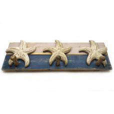 "Вешалка ""Морские звезды"" Настенная (39х13х7 см) Homade"