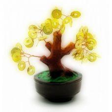 Дерево Счастья с монетами (16х16х10 см)