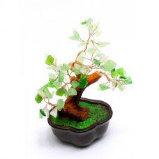 Дерево Счастья с камнями (12 см) зеленое