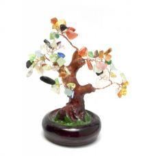 Дерево Счастья с разноцветными камнями (15х16х14 см) Микс