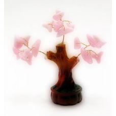 Дерево Счастья с камнями (7,5 см) Розовое
