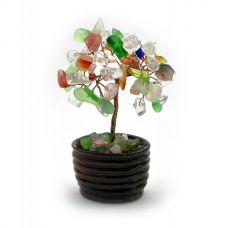 Дерево Счастья с камнями (7 см) Микс