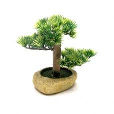 Дерево Счастья Бансай ель искусственная (16,5х12х8,5 см)