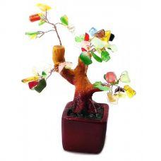 Дерево Счастья с камнями (15х10х5см) Микс