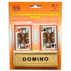 Домино с двумя колодами карт (23,5х18х4 см) 26726 Darshan