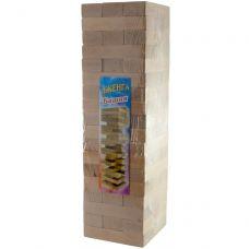 """Игра настольная """"Эко-Дженга-Гигант"""", массив дерева (48 брусков) 3,9кг (48х12,5х12,5 см) 30398"""