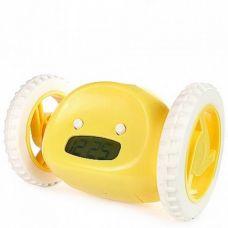 Убегающий будильник на колесиках Alarm Run Желтый