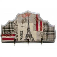 "Ключница вешалка ""Париж"", массив дерева (34х19 см)"