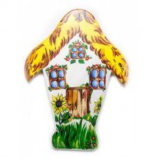 """Ключница настенная """"Домик"""", расписано вручную, массив дерева (26х35х1,5 см)"""