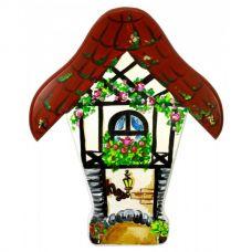 """Ключница настенная """"Париж"""", расписано вручную, массив дерева (26х35х1.5 см)"""