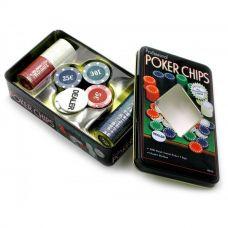 Покерные фишки в коробке из металла 100 шт, Darshan 18980