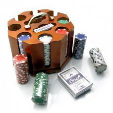 Набор для игры в покер в шкатулке 200 фишек, две колоды карт Darshan 19853