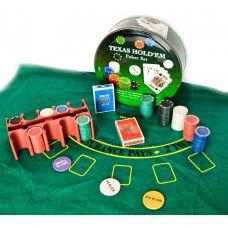 Набор для игры в покер в коробке 200 фишек, сукно,  две колоды карт Darshan 23717