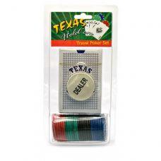 Набор для игры в покер в блистере 24 фишки, одна колода карт Darshan 23724