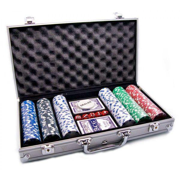 Покерный набор 300 фишек с Номиналом, Кейс