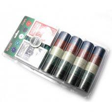 Набор для игры в покер в блистере 200 фишек, сукно, две колоды карт Darshan 23901
