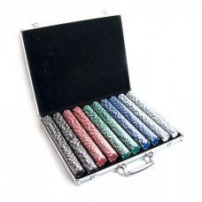 Покерные фишки в алюминиевом кейсе 1000 шт, Darshan 25991