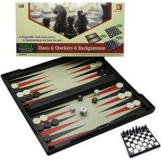 Игровой набор магнитный 3 в 1 (Шахматы,шашки,нарды)(32х32х2 см) 19312
