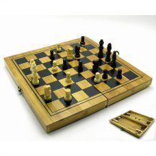 Нарды , шахматы и шашки бамбук (24х12 см) 18477