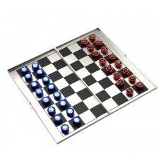 Шахматы магнитные дорожные алюминий (16х9х1 см) 25012