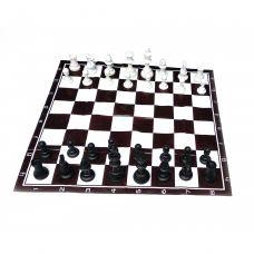 Шахматы дорожные в блистере с мягкой доской полимер (h фигур 4.5-9.5 см ,d-3.5 см) 32386