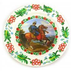 """Тарелка """"Козак на коне"""" расписано в ручную (24 см)"""