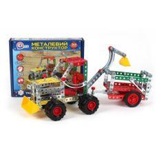 """Детский Конструктор """"Трактор с прицепом Технок"""" Металл (265 деталей) Технок 4876"""