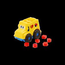 Детская машинка игрушечная Бусик №1 Желтый (Машинка, Вкладыши) Colorplast