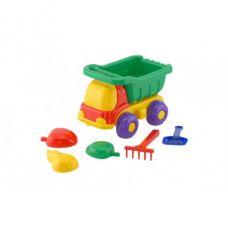 Детская машинка игрушечная Пчелка Зеленая №2 (Машинка, Лопатка, Пасочки) Colorplast