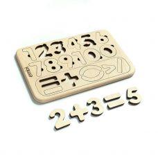 Пазл-сортер Цифры для детей, 24x1x15 см, Embi