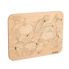 Пазл-сортер Овощи, 30x1x20 см, Embi