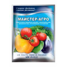 Удобрение для томатов, перца и баклажанов, 100 г Мастер Агро