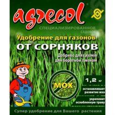 Удобрение для газонов против сорняков и мха, 1.2кг Agrecol харьков агрогарант